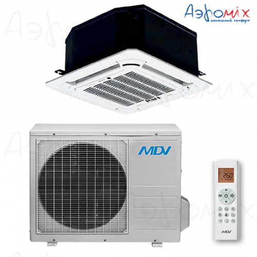 MDV MDCA4-12HRN1  / T-MBQ4-03E /MDOU-12HN1-L   Неинверторная сплит-система кассетного типа