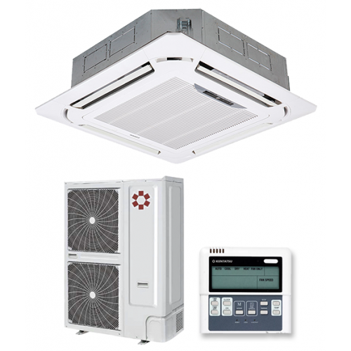 KENTATSU KSVA165HZAN1/KSUN165HZAN3/KPU95-D1 Инверторная сплит-система кассетного типа четырехпоточная Wi-Fi