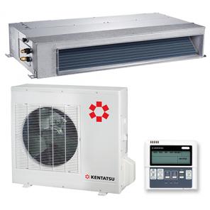 KENTATSU KSMA105HZAN1/KSUN105HZAN3 Инверторная сплит-система канального типа средненапорная Wi-Fi